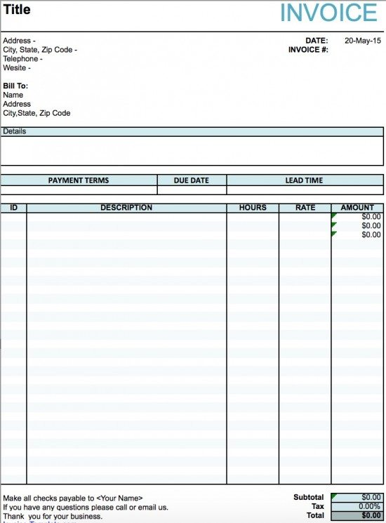 invoice word doc