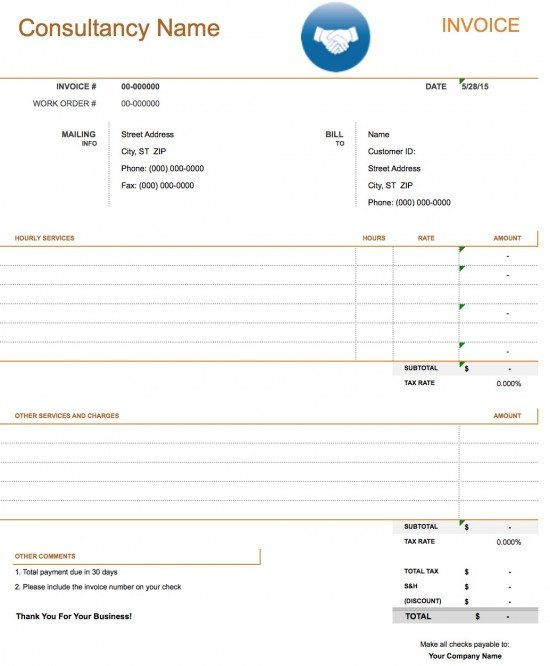 Daycare Invoice Template  CityEsporaCo