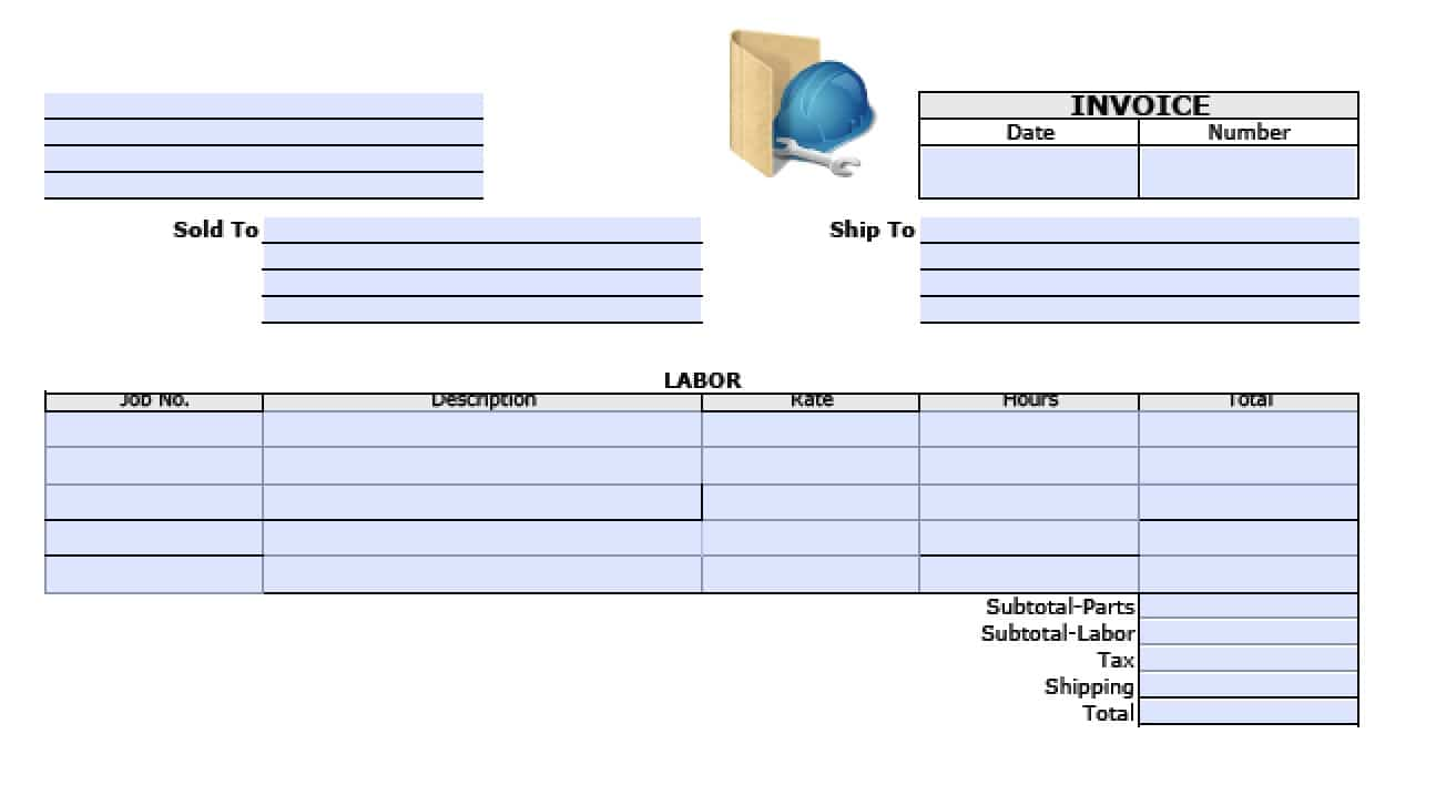 free general labor invoice template | excel | pdf | word (.doc), Invoice templates
