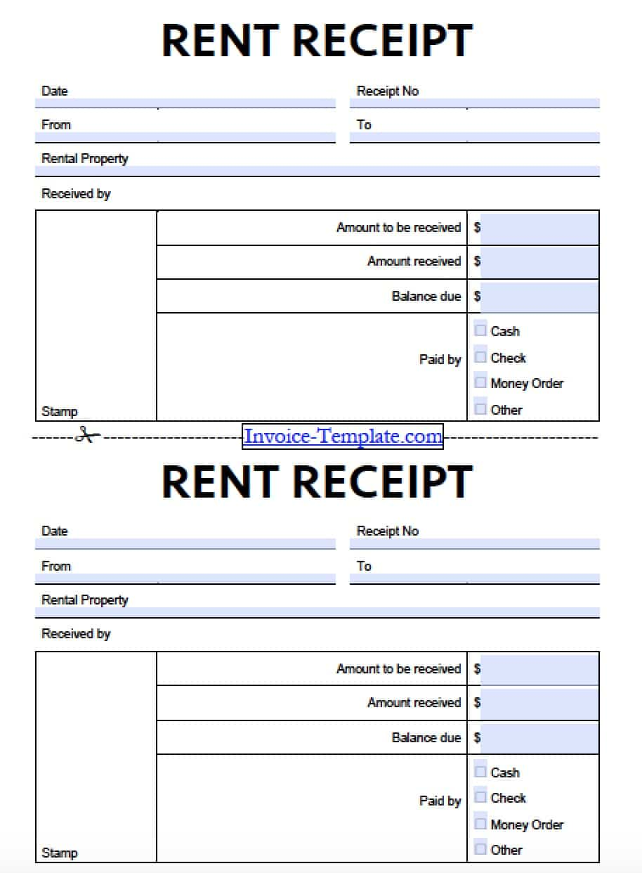 Rent Receipt Format Word – House Rent Slips