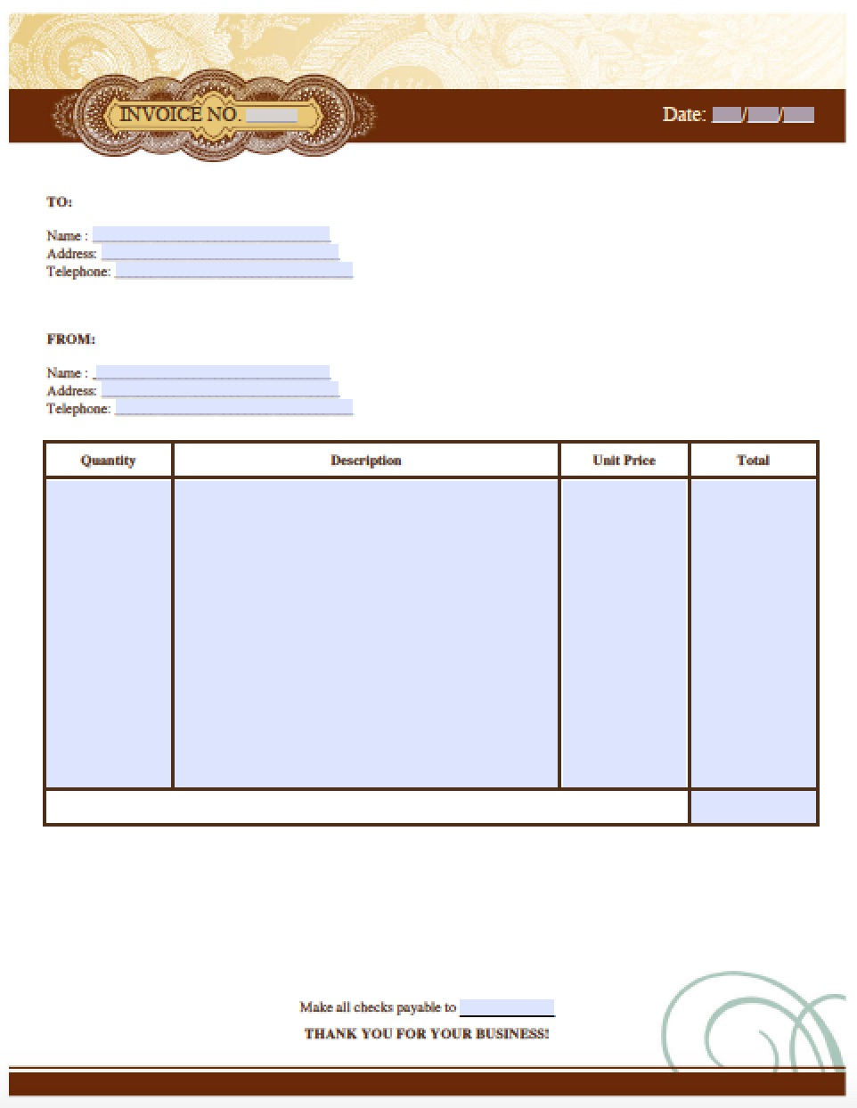 free auto (body) repair invoice template | excel | pdf | word (.doc), Invoice templates