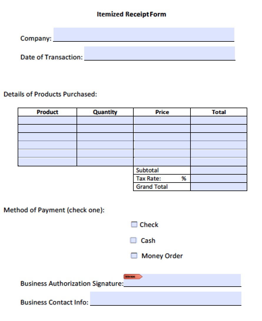 Itemized Receipt Template from invoice-template.com