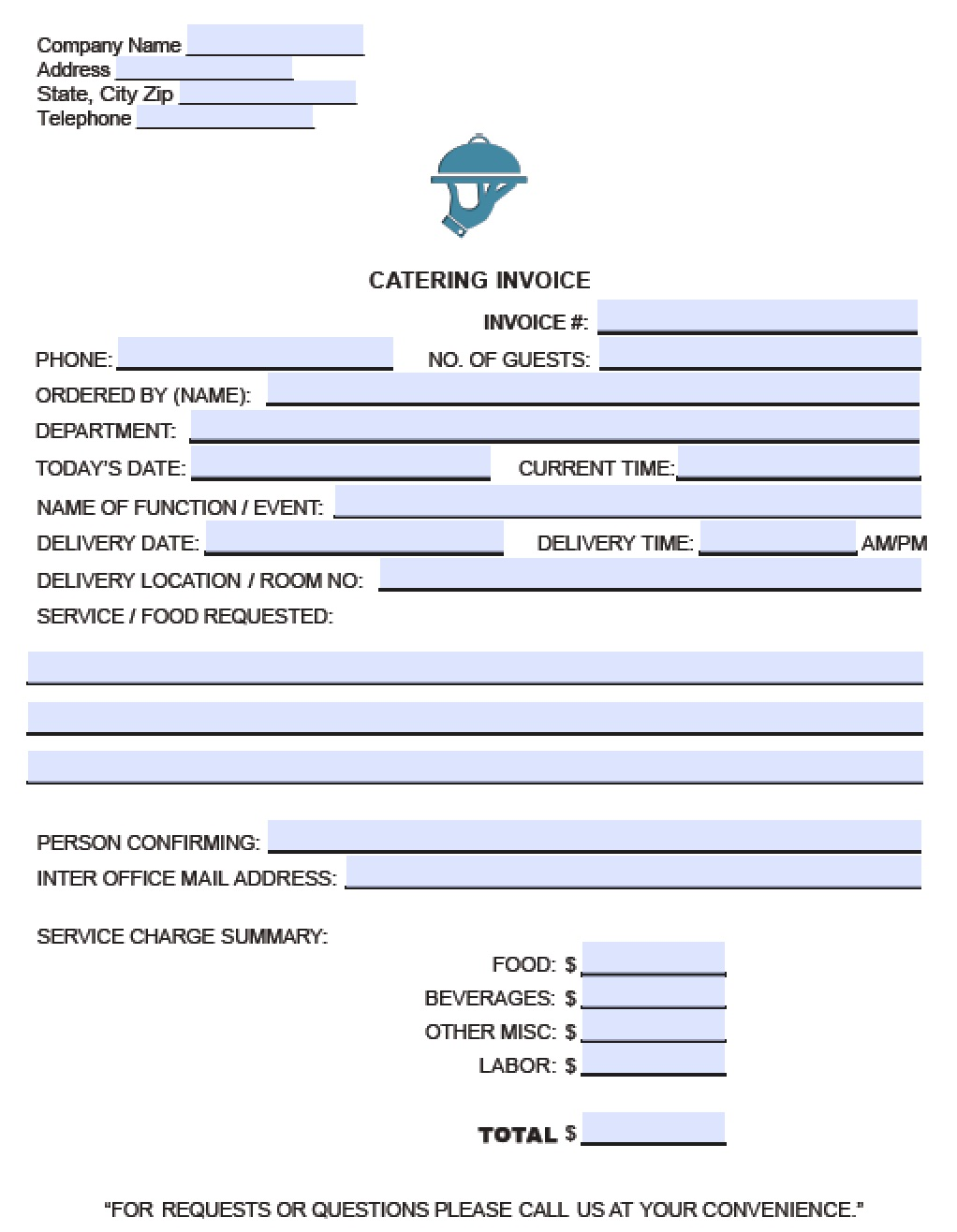 microsoft word order form template