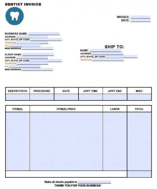 Usdgus  Prepossessing Free Dental Invoice Template  Excel  Pdf  Word Doc With Magnificent Dentistinvoicetemplateadobepdfmicrosoftword With Appealing How To Create An Invoice Template In Excel Also Template For Commercial Invoice In Addition Small Business Invoicing Software Free And Invoice Template For Excel  As Well As Proforma Invoic Additionally Making Invoice From Invoicetemplatecom With Usdgus  Magnificent Free Dental Invoice Template  Excel  Pdf  Word Doc With Appealing Dentistinvoicetemplateadobepdfmicrosoftword And Prepossessing How To Create An Invoice Template In Excel Also Template For Commercial Invoice In Addition Small Business Invoicing Software Free From Invoicetemplatecom