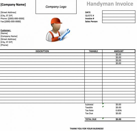 Ultrablogus  Pleasant Free Handyman Invoice Template  Excel  Pdf  Word Doc With Likable Microsoft Excel Xls With Alluring Sample Invoice Template Free Also Hsbc Invoice Financing In Addition Vat Invoice Template Uk And How To Prepare A Invoice As Well As What Is A Invoice Used For Additionally Free Printable Invoice Online From Invoicetemplatecom With Ultrablogus  Likable Free Handyman Invoice Template  Excel  Pdf  Word Doc With Alluring Microsoft Excel Xls And Pleasant Sample Invoice Template Free Also Hsbc Invoice Financing In Addition Vat Invoice Template Uk From Invoicetemplatecom