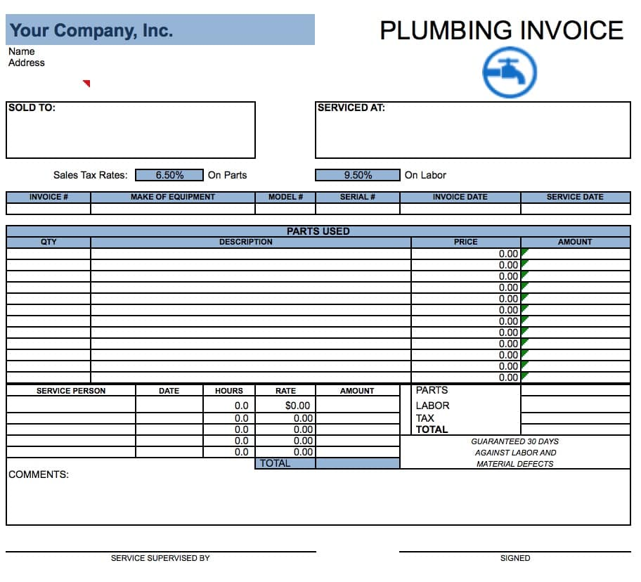 Job Invoice Templates. Combining Job Description & Items On